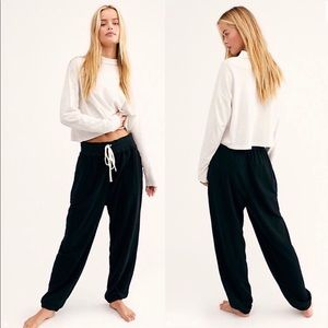 NWT Free People Slouch Jogger Sweatpants Black - L